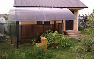 Навес в загородном доме
